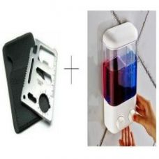 Buy Double Soap Dispenser With Free 11 In 1 Stainless Steel Survival Toolkit - 11insdispl for Rs. 451
