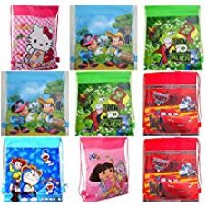 Buy Zest 4 Toyz Cartoon Printed Kids Haversack Bag Kids Birthday Party Return Gift (Pack Of 12) from Amazon