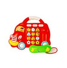 Toyhouse Cartoon car electronic phone toys with 5 lights, Red red for Rs. 268