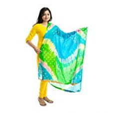 Lodestone Women's Silk Bandhani Dupatta (Blue) for Rs. 369