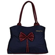 Buy Fristo Women's Handbag(FRB-200)Blue and Maroon from Amazon