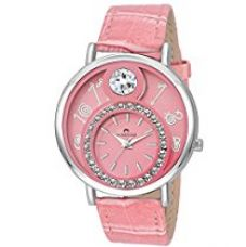 SWISSTONE VOGLR321 Pink Leather Strap Analog Wrist Watch for Women/Girls for Rs. 434