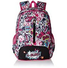 Buy Barbie Nylon 48 cms Pink and Black Children's Backpack (Age group :8 yrs +) from Amazon