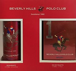 Buy Beverly Hills Polo Club Sports EDT for Men, 50ml with Deodrant, No 1, 175ml from Amazon
