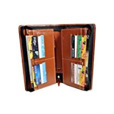 Pareek Brown Expanding Cheque Book Holder Travelling Document Bag(Set Of 12),Brown for Rs. 499