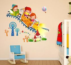 Buy Decals Design 'Kids Riding Roller Coaster' Wall Sticker (PVC Vinyl, 50 cm x 70 cm x 1 cm) from Amazon