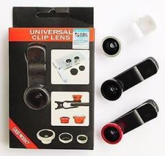 Buy 3 In 1 Universal Clip Mobile Phone Lens Fish Eye+ Macro + Wide Angle camera lens from Ebay