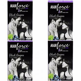 Buy Manforce 3 in 1 Condom - 10 Pieces (Pack of 4, Black Grapes) from Amazon