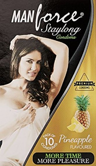 Buy Manforce 3 in 1 Ribbed Contour Condom - 10 Pieces (Pack of 7, Pineapple) from Amazon