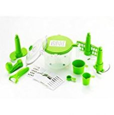 Buy Vivir® Advance 10 In 1 Vegetable Cutter And Food Processor (Green) from Amazon