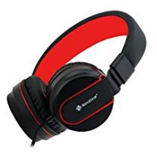 Novateur R11 Foldable Corded Headphones With Mic - Red for Rs. 799