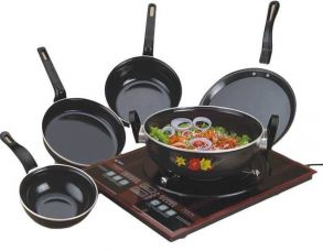 Flat 75% off on Milton Induction Bottom Cookware Set  (PTFE (Non-stick), 5 - Piece)
