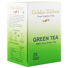 Buy GOLDEN RIBBON GREEN TEA 25 tea bags (50g) from Amazon