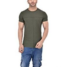 Buy Tinted Men's Cotton Blend Round Neck T-Shirt from Amazon