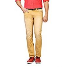 People Men's Casual Trousers (8903880972530 _P10102059301621_28W x 33L_Khaki) for Rs. 649