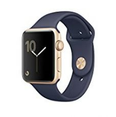 Buy Apple Series 2 42mm Smart Watch (Gold Case, Midnight Blue Band) from Amazon