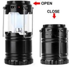 Flat 77% off on Solar Rechargeable LED Camping Lantern Light
