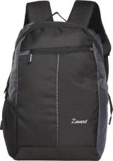 Zwart Basic 18 L Small Laptop Backpack  (Black, Grey) for Rs. 674