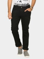 Bare Denim by Pantaloons Men Black Skinny Fit Stretchable Jeans for Rs. 999