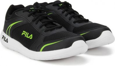 Flat 58% off on Fila WADE Running Shoes  (Black)