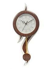 JaipurCrafts Plastic Analogue Wall Clock(White, Brown) for Rs. 699