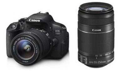 Buy CANON EOS 700D DSLR CAMERA WITH 18-55MM IS II+55-250MM IS II-COMBO+DUAL LENS KIT from Ebay