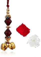 Buy Aheli Rakhi Strand Bracelet for Men (Red)(AR22046R) from Amazon
