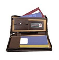 COI Brown And Light Classy Brown Leatherite Cheque Book Holder/Document Holder for Rs. 435