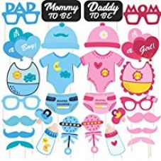 Buy Discount Retail Photo Booth Props for Baby Shower (28 Pieces) from Amazon
