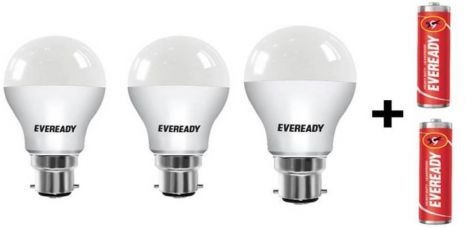 Buy Eveready 7 W, 9 W, 12 W Standard B22 D LED Bulb  (White, Pack of 9) from Flipkart