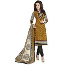 Buy Vaamsi Women's Dress Material (Deep1041A_Brown_One Size) from Amazon