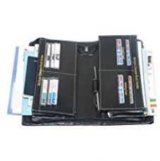 Pareek Expanding Cheque Book Holder Travelling Document Bag(Set Of 12),Black for Rs. 499