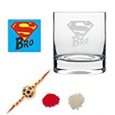 Buy TYYC New Year Gifts For Brother, Super Bro Whiskey Glass with Coaster Set of 1 - 325 ml from Amazon