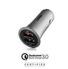Mivi Quick Charge 3.0 Qualcomm Certified Dual Port Metallic Car Charger for Rs. 899