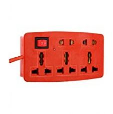 Buy generic 5+1 extension cord for Iron With 3.4 Meter Wire (2 Pin & 3 Pin) from Amazon