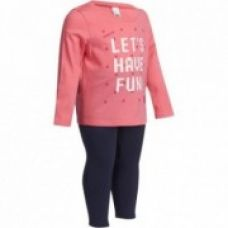 Buy Baby Fitness Tracksuit - Pink/Navy Blue from Decathlon