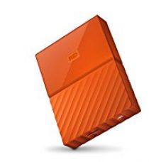 WD My Passport 4TB Portable External Hard Drive (Orange) for Rs. 8,999