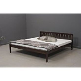 Buy Heritage Prime Accent Solid Wood Double Bed (Rich Brown Finish) from Amazon
