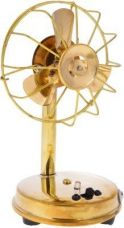 Greentouch Metal Antique Fan Handicraft Home Decor Works with Battery and Nokia Standard Charging Point - 10x9x16.5 Centimeter for Rs. 275