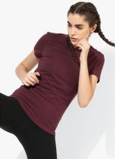 Adidas Prime Wine Training Round Neck T-Shirt for Rs. 495