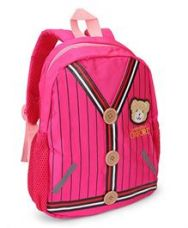 Get 45% off on School Bag Teddy Patch Pink - 12 inches