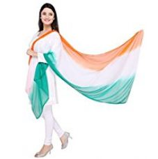 Dupatta Bazaar Republic Day Tiranga Tri Colour Chiffon Dupatta for Rs. 245