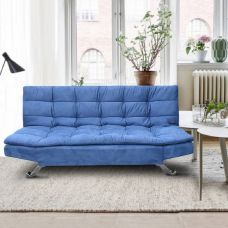 Get 46% off on Auspicious Home Zara Double Solid Wood Sofa Bed(Finish Color - Blue Mechanism Type - Fold Out)