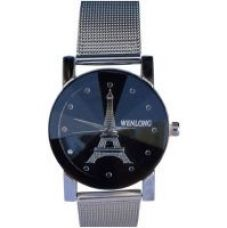 Flat 85% off on Wenlong Round Dial Silver Stainless Steel Analog Watch For Women