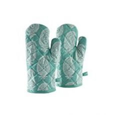 Buy Solimo 100% Cotton Padded Oven Gloves Paisley, (Pack of 2, Blue) from Amazon