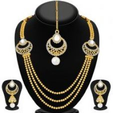Sukkhi Gold Plated Gold Alloy Necklace Set For Women for Rs. 399