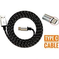 Regor TYPE-C cable, 5 Ft/1.5Mtr, RUGGED Connectors,Nylon Braid for Rs. 399
