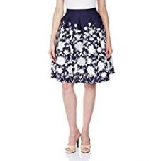 Buy Harpa Women's A-Line Skirts (GR2670_Navy_26) from Amazon