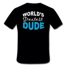 TheYaYaCafe New Year Printed Men's Cotton Brother T-shirt Worlds Greatest Dude - Black - S for Rs. 499