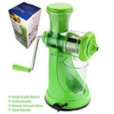 Buy Vivir® Fruit And Vegetable Juicer With Steel Handle And Juice Glass (Colour May Vary) from Amazon